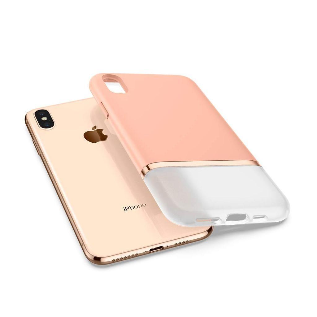 Spigen® La Manon Jupe 063CS25369 iPhone XS / X Case - Milk Peach