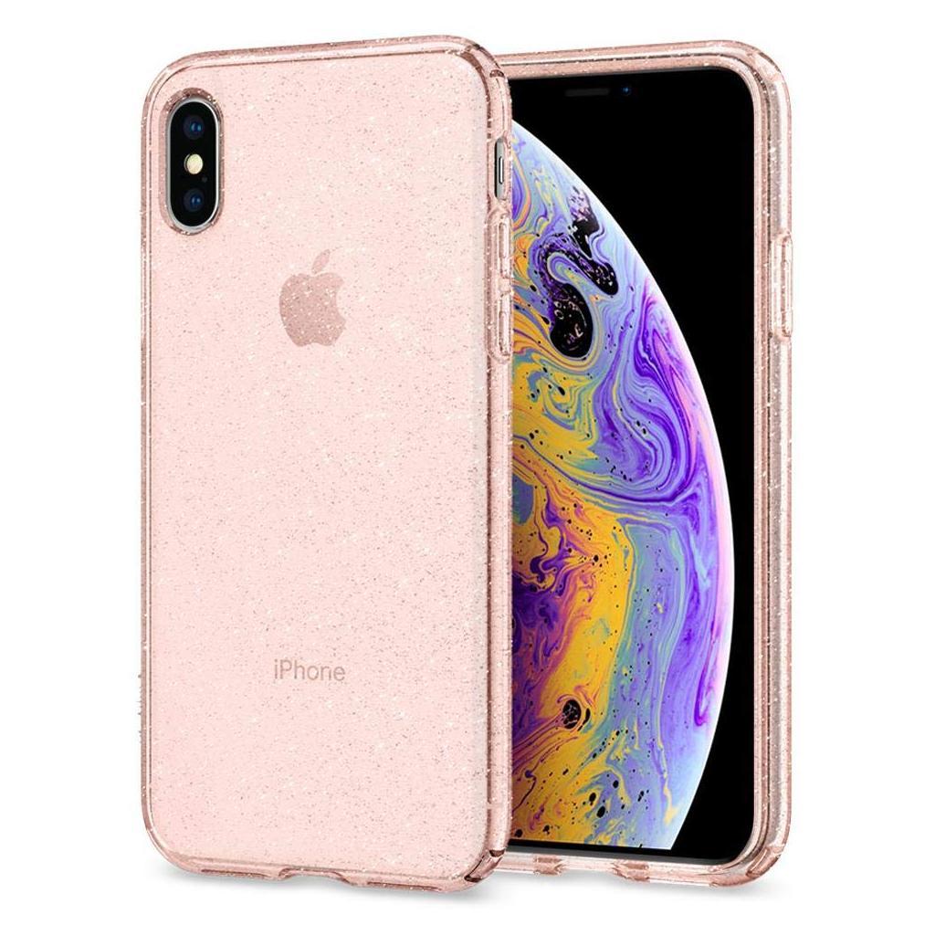c931661237 Spigen® Liquid Crystal Glitter™ 063CS25112 iPhone XS   X Case - Rose Quartz