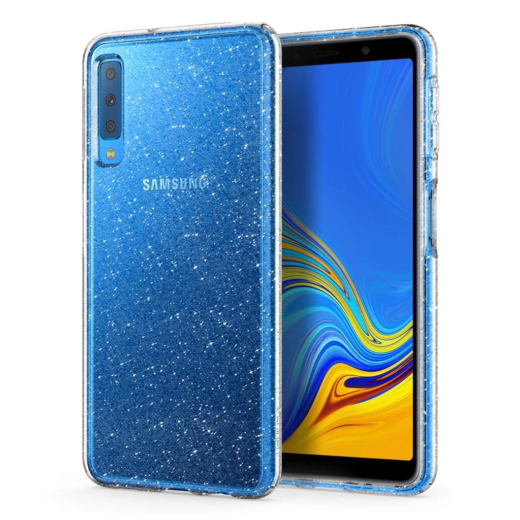 Spigen® Liquid Crystal Glitter™ 608CS25752 Samsung Galaxy A7 (2018) Case - Crystal Quartz