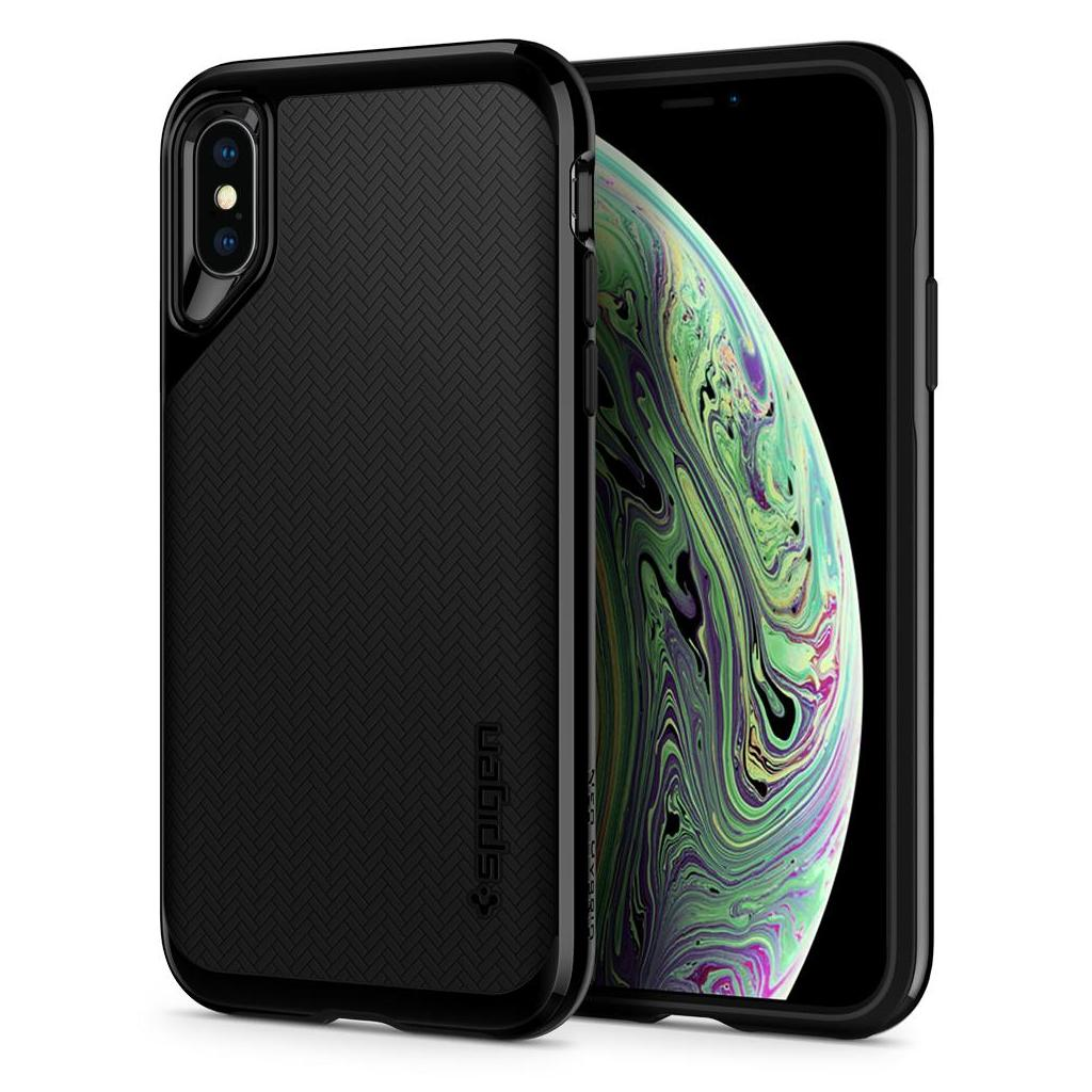 Spigen® Neo Hybrid™ 063CS24919 iPhone XS / X Case - Jet Black