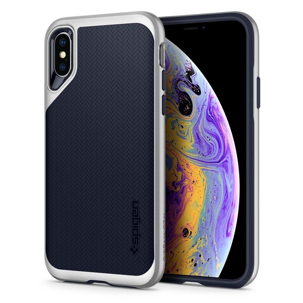 Spigen® Neo Hybrid™ 063CS24920 iPhone XS / X Case - Satin Silver