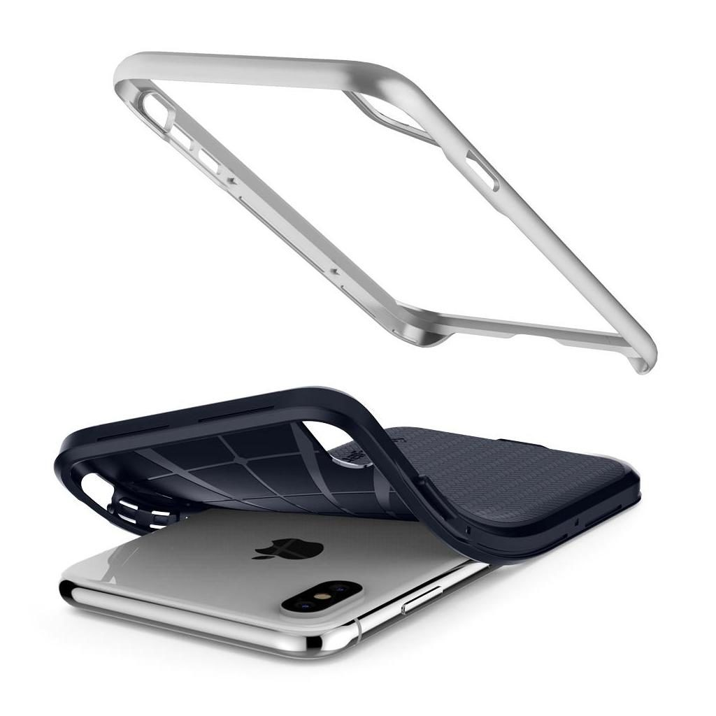 Spigen® Neo Hybrid™ 063CS24920 iPhone XS / X Case - Satin Silver
