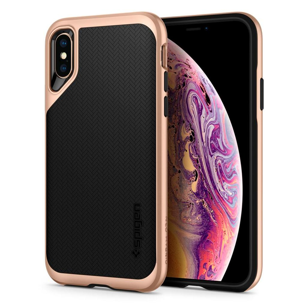 Spigen® Neo Hybrid™ 063CS25328 iPhone XS / X Case - Blush Gold
