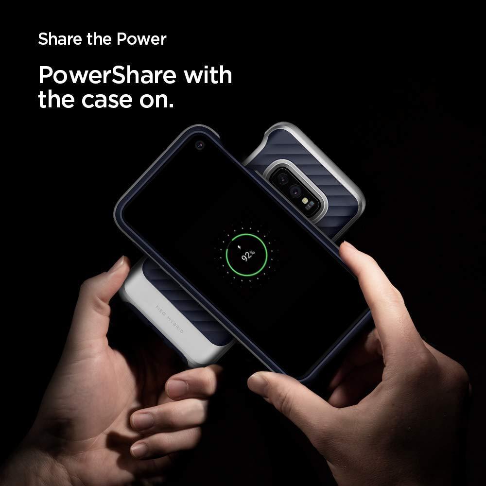 Spigen® Neo Hybrid™ 609CS25848 Samsung Galaxy S10e Case - Arctic Silver