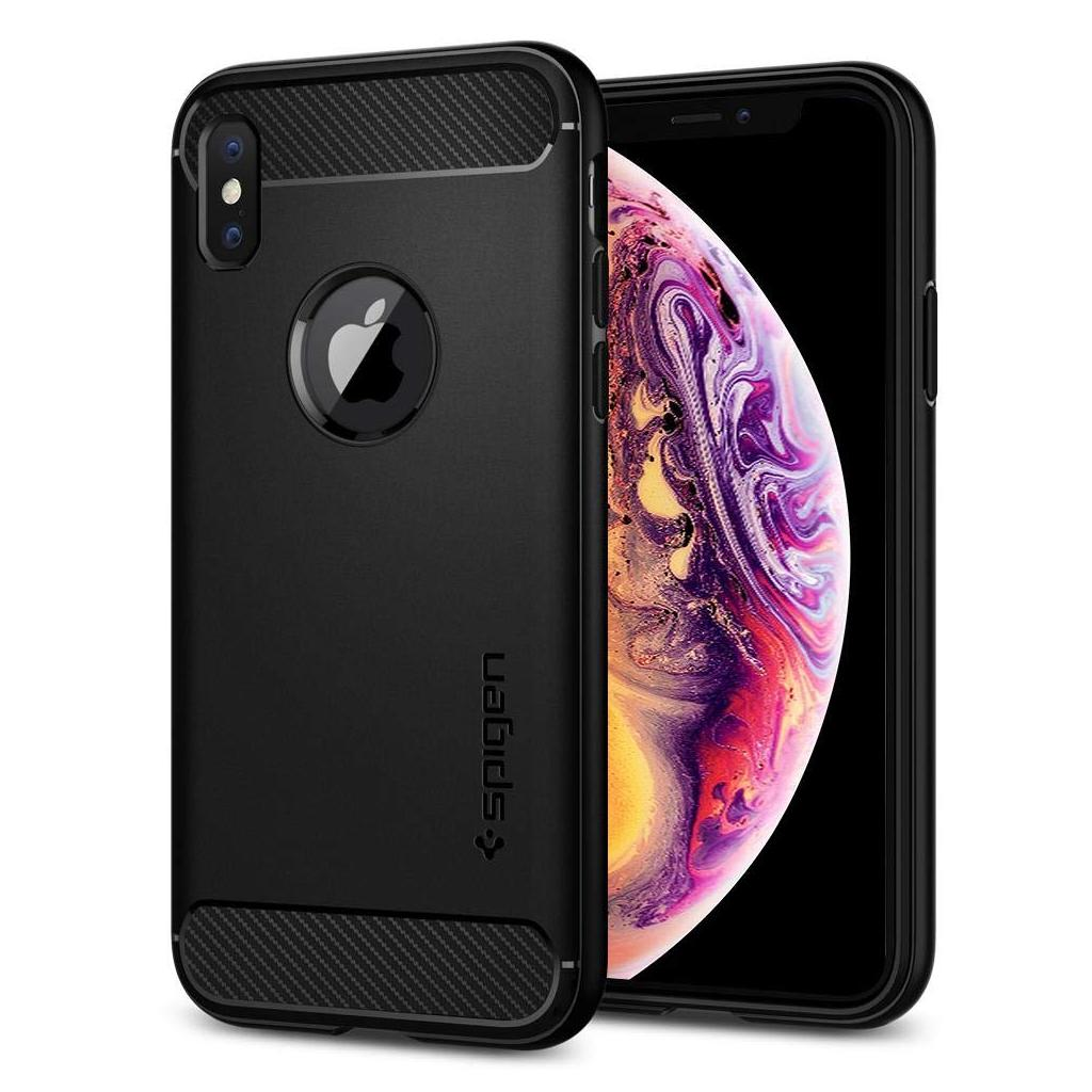 Spigen® Rugged Armor™ 063CS25113 iPhone XS / X Case - Matte Black