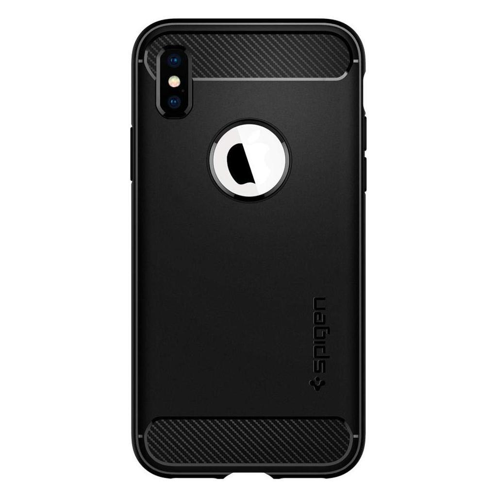 Spigen® Rugged Armor™ 063CS25113 iPhone XS / X Case - Matte Black