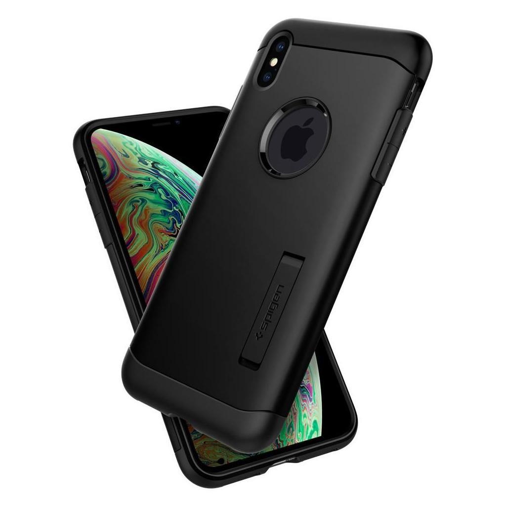 Spigen® Slim Armor™ 063CS25136 iPhone XS / X Case - Black