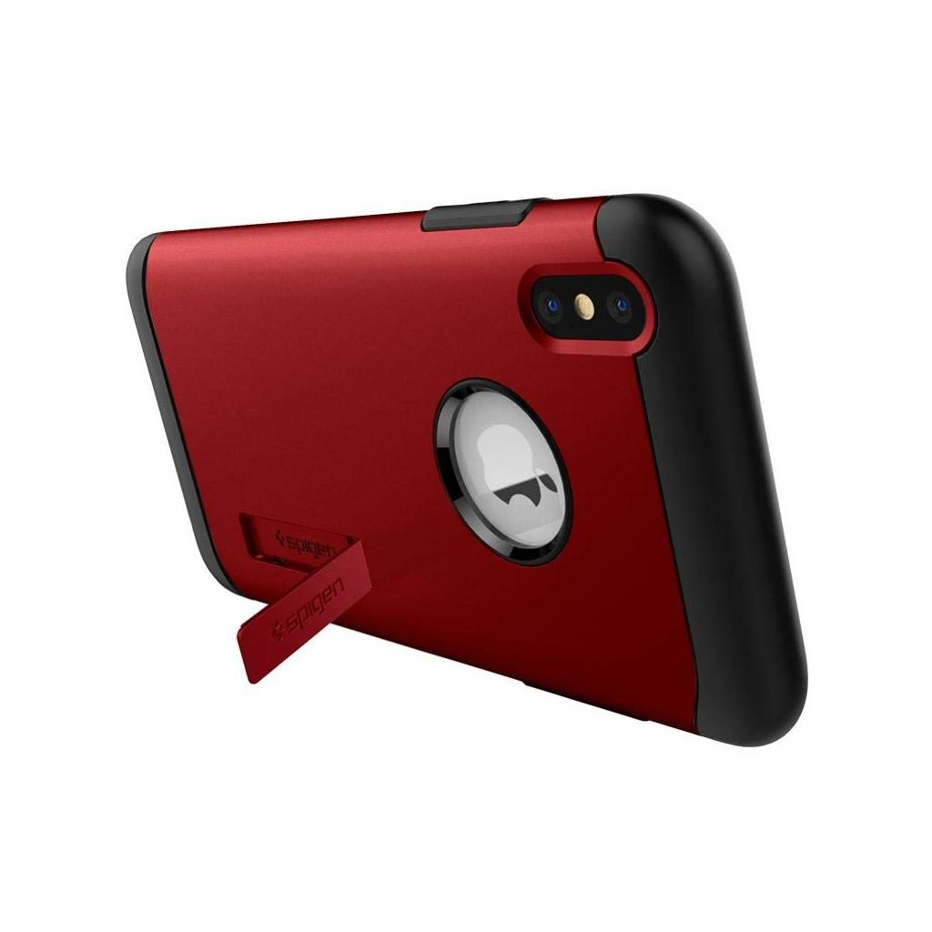 Spigen® Slim Armor™ 063CS25138 iPhone XS / X Case - Merlot Red