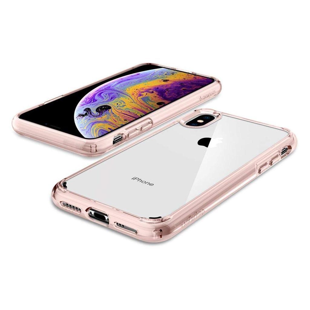 Spigen® Ultra Hybrid™ 063CS25117 iPhone XS / X Case - Rose Crystal