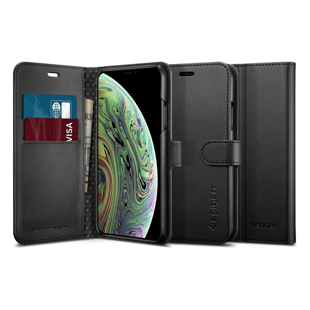 Spigen® Wallet S™ 063CS25120 iPhone XS / X Case - Black