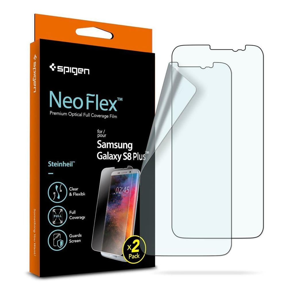 Spigen® (x2Pack) Neo Flex™ HD 571FL21706 Samsung Galaxy S8+ Plus Premium Screen Protector