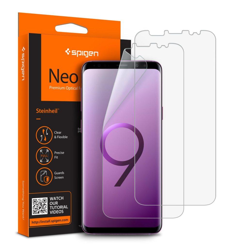 Spigen® (x2Pack) Neo Flex™ HD 593FL22902 Samsung Galaxy S9+ Plus Premium Screen Protector
