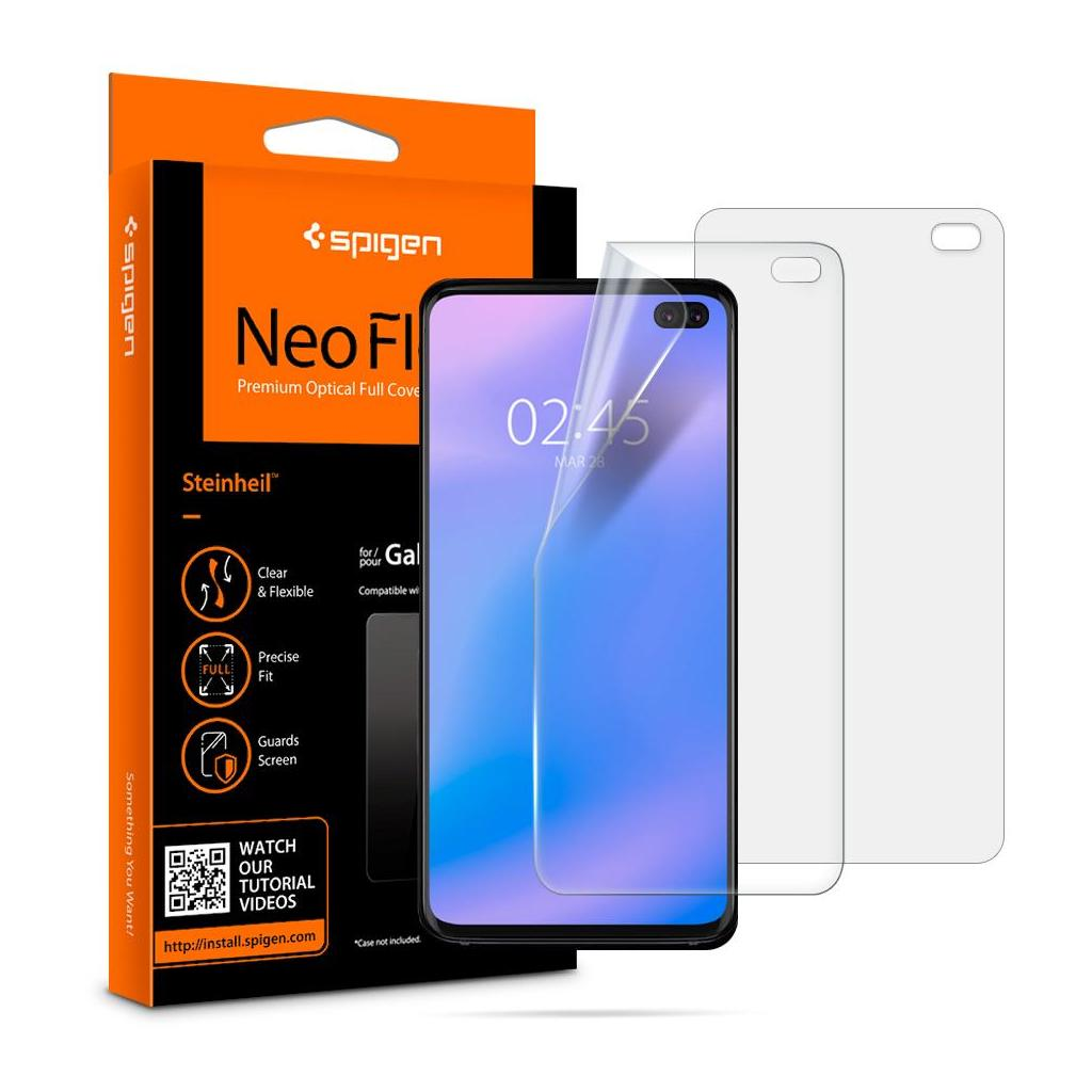 Spigen® (x2Pack) Neo Flex™ HD 606FL25695 Samsung Galaxy S10+ Plus Premium Screen Protector