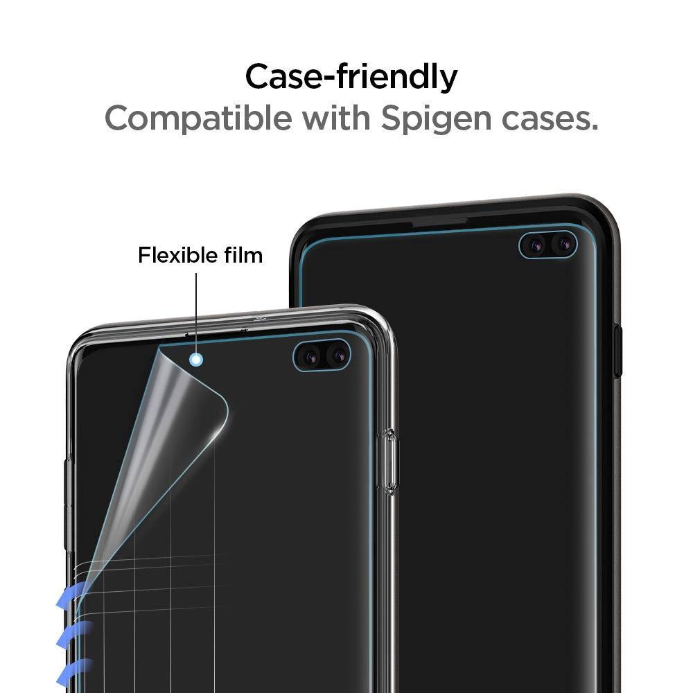 Spigen® (x2Pack) Neo Flex™ HD 606FL25695 Samsung Galaxy S10+ Plus Premium Screen Protector