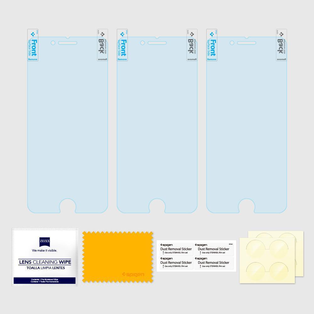 Spigen® (x3Pack) Crystal™ 043FL20465 iPhone 8 Plus / 7 Plus Premium Screen Protector
