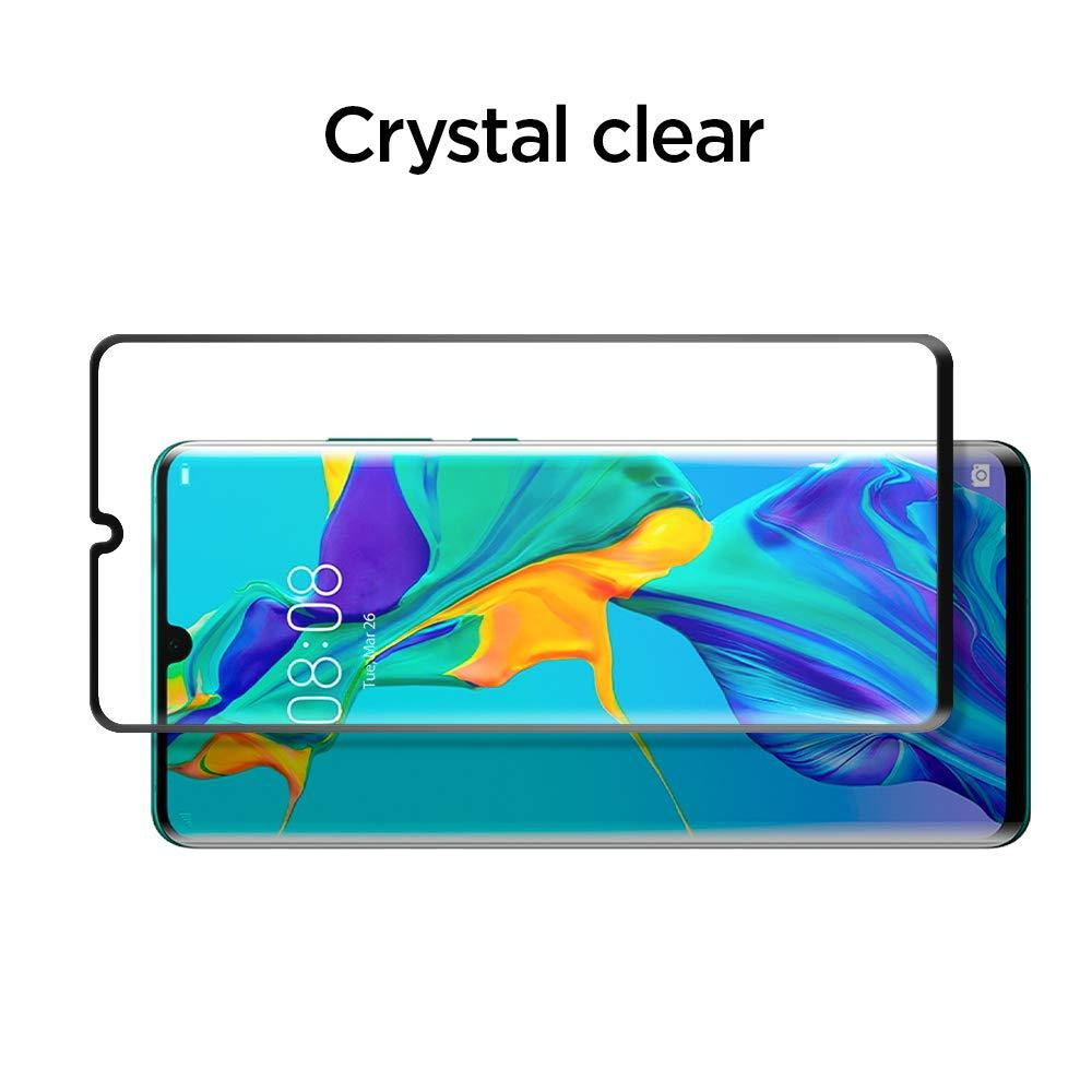 Spigen® GLAS.tR™ Curved Full Cover HD L37GL25745 Huawei P30 Pro Premium Tempered Glass Screen Protector