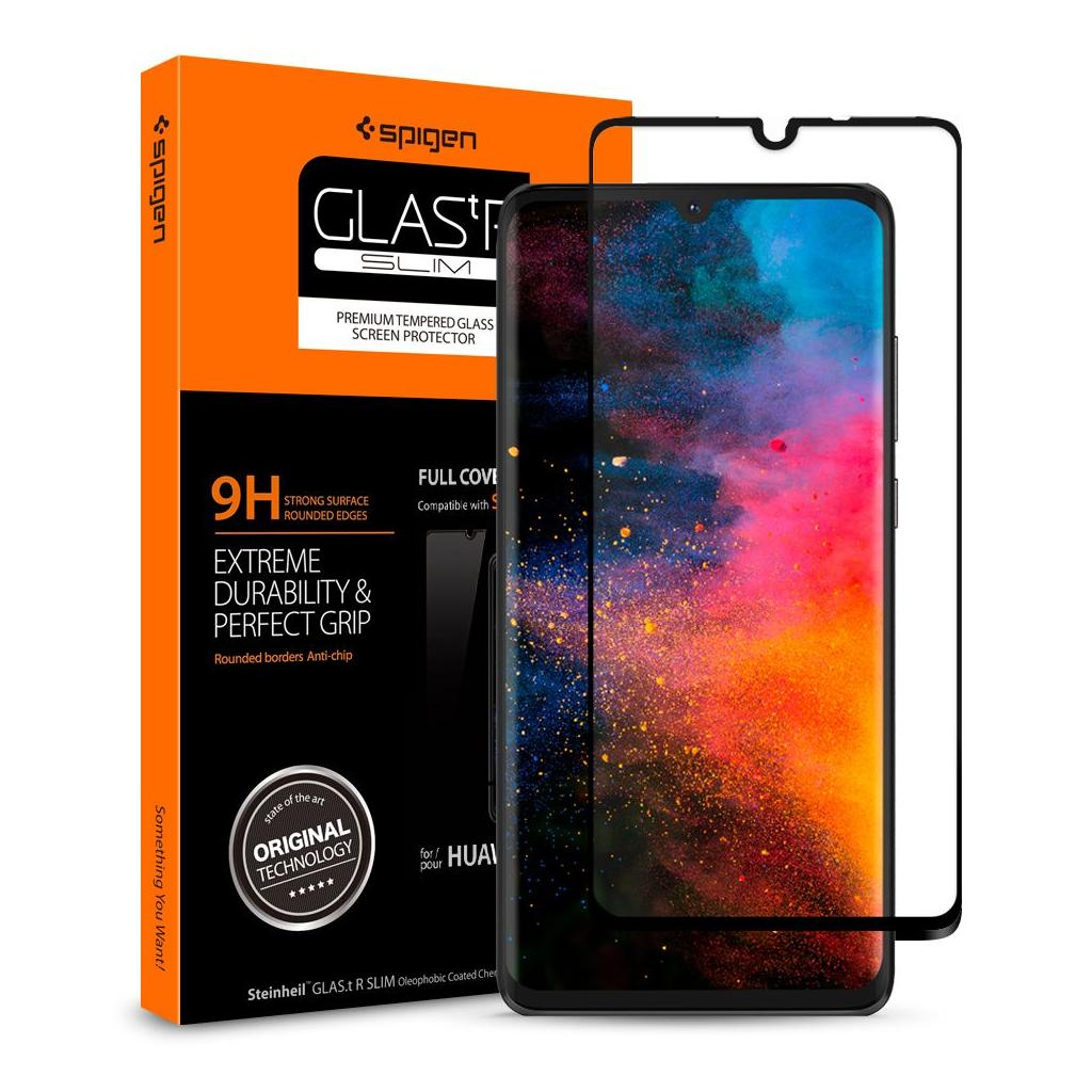Spigen® GLAS.tR™ Curved Full Cover HD L38GL26018 Huawei P30 Premium Tempered Glass Screen Protector