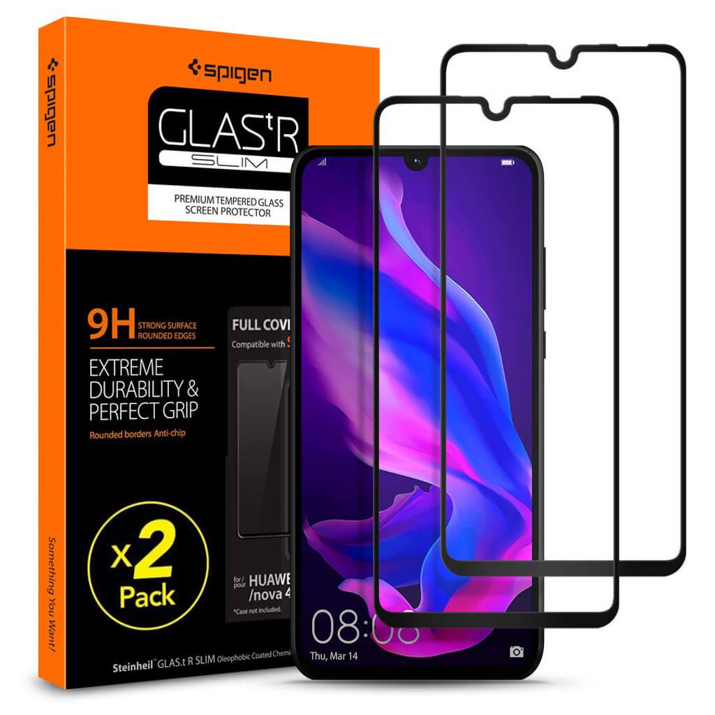 Spigen® GLAS.tR™ Curved Full Cover HD L39GL25749 Huawei P30 Lite Premium Tempered Glass Screen Protector