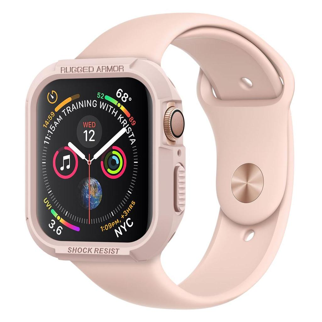 Spigen® Rugged Armor™ 062CS24470 Apple Watch Series 4 (44mm) Case - Rose Gold