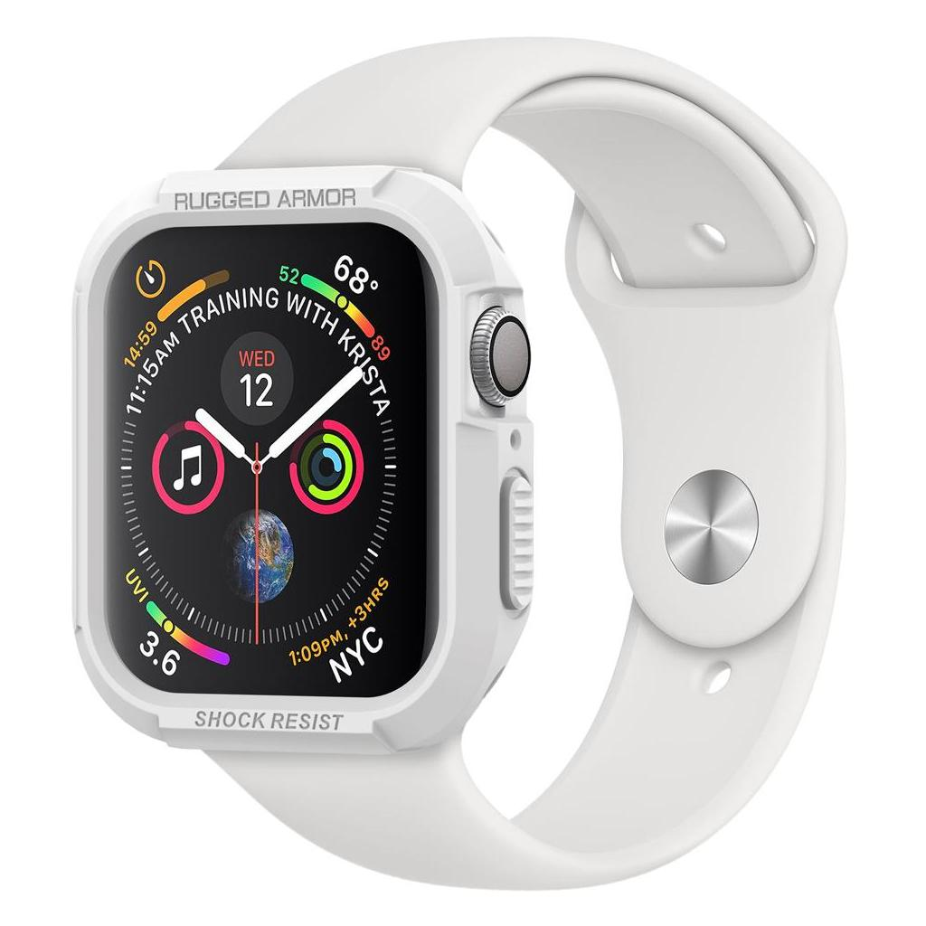 Spigen® Rugged Armor™ 062CS24471 Apple Watch Series 4 (44mm) Case - White