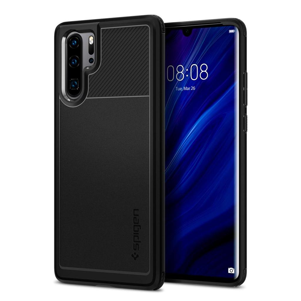 Spigen® Rugged Armor™ L37CS25725 Huawei P30 Pro Case - Matte Black