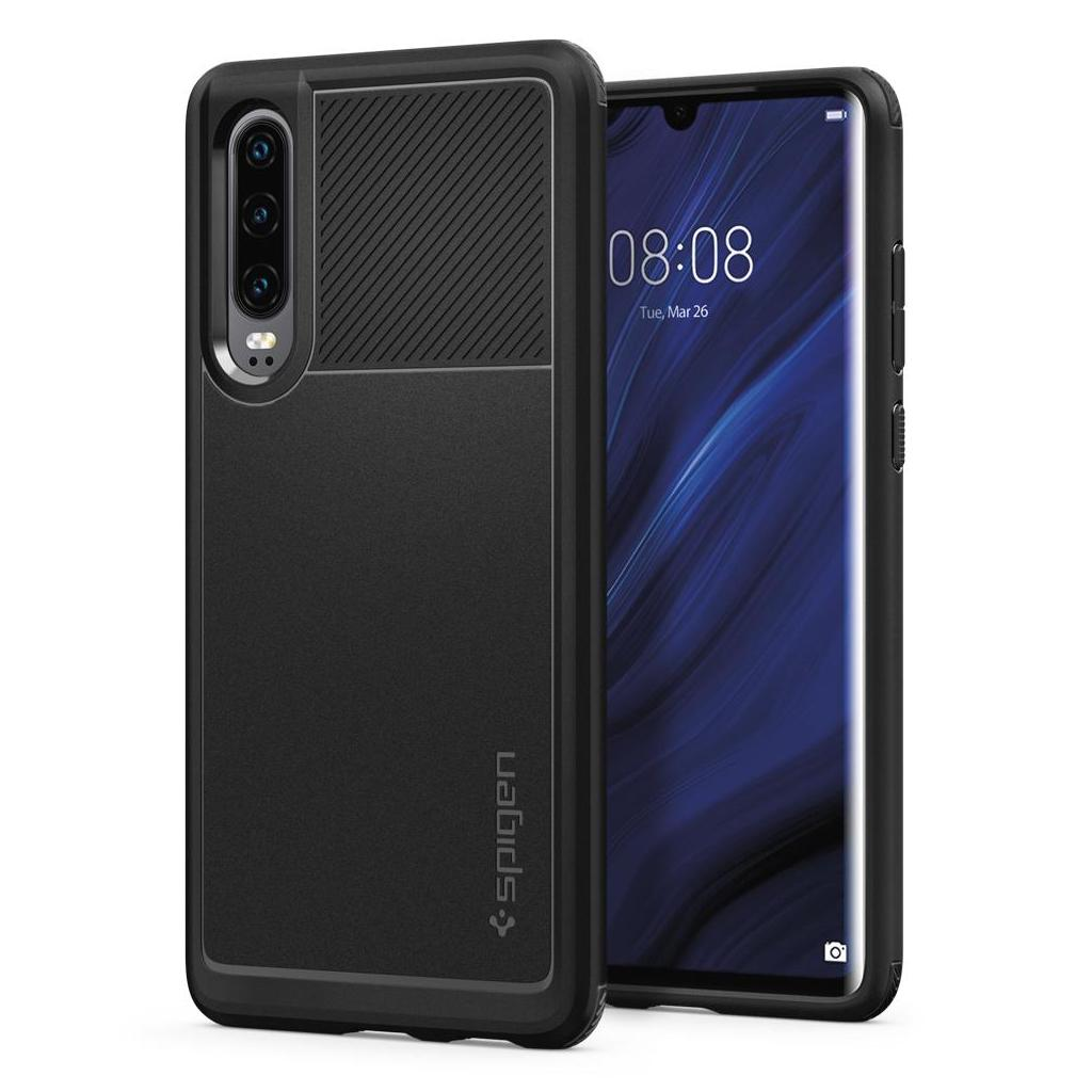 Spigen® Rugged Armor™ L38CS25735 Huawei P30 Case - Matte Black