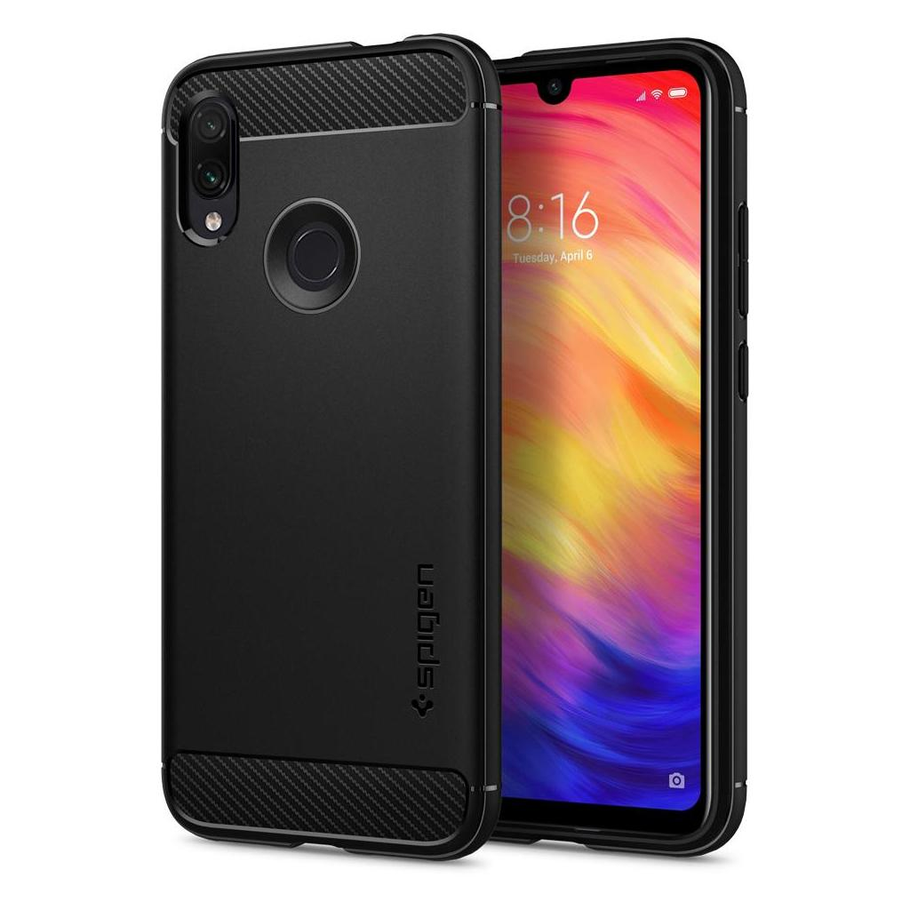 Spigen® Rugged Armor™ S34CS26086 Xiaomi Redmi Note 7 Case - Matte Black