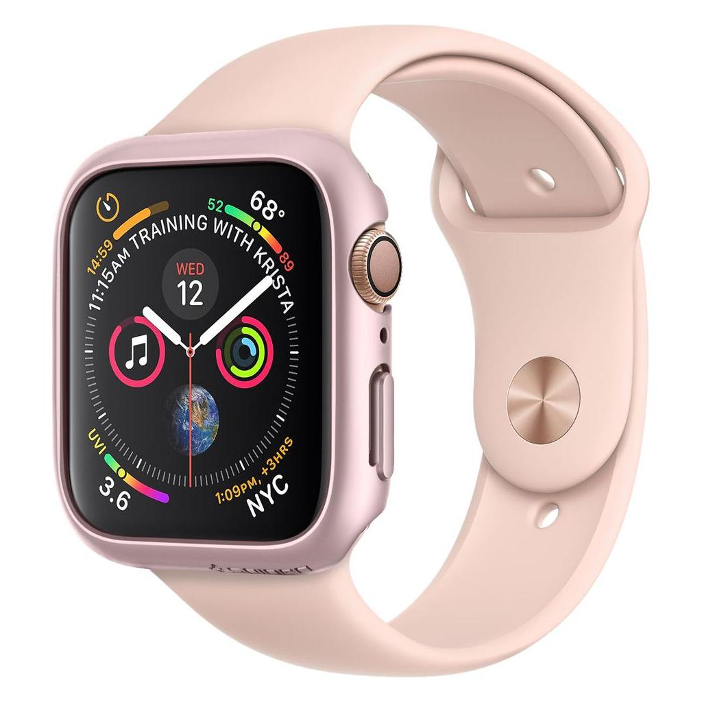 Spigen® Thin Fit™ 062CS24476 Apple Watch Series 4 (44mm) Case - Rose Gold