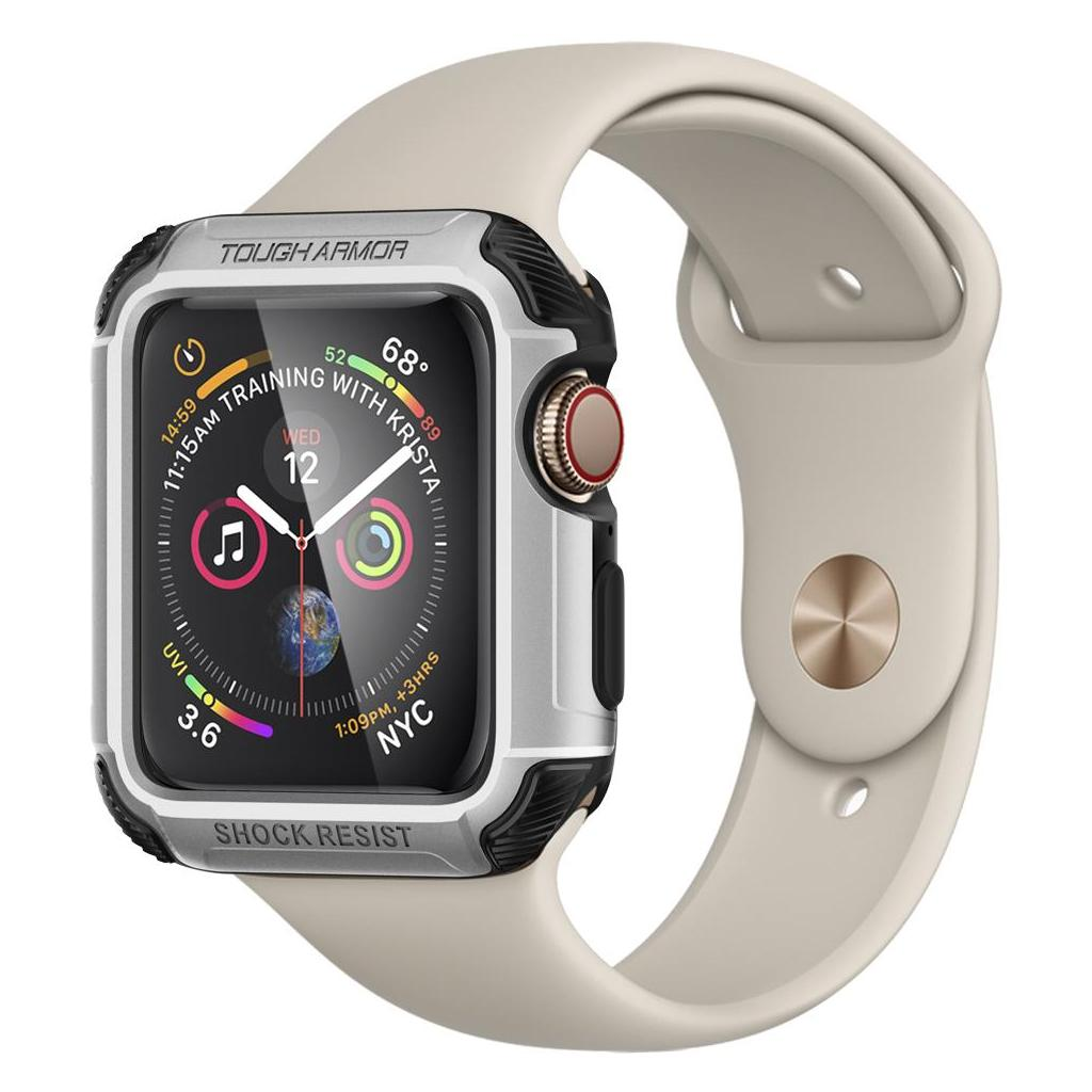 Spigen® Tough Armor™ 062CS24478 Apple Watch Series 4 (44mm) Case - Silver