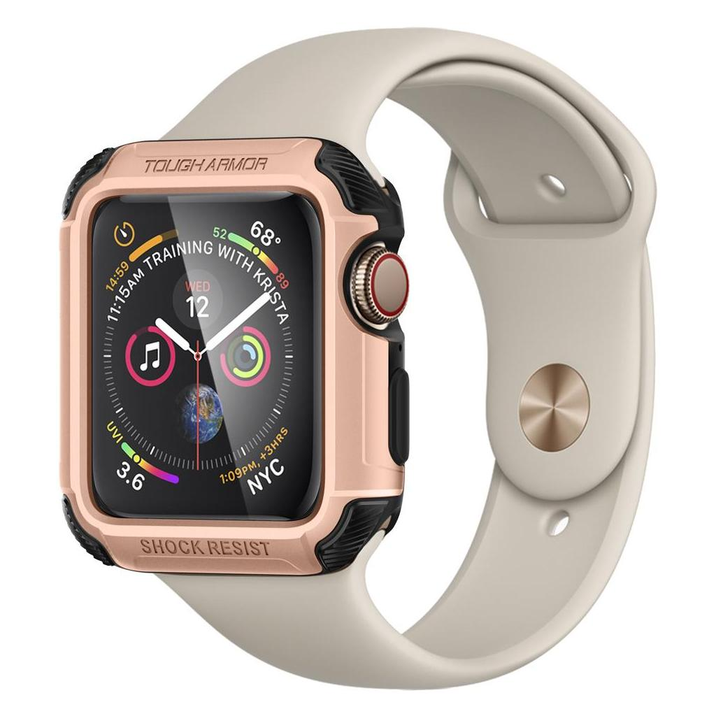 Spigen® Tough Armor™ 062CS24479 Apple Watch Series 4 (44mm) Case - Rose Gold