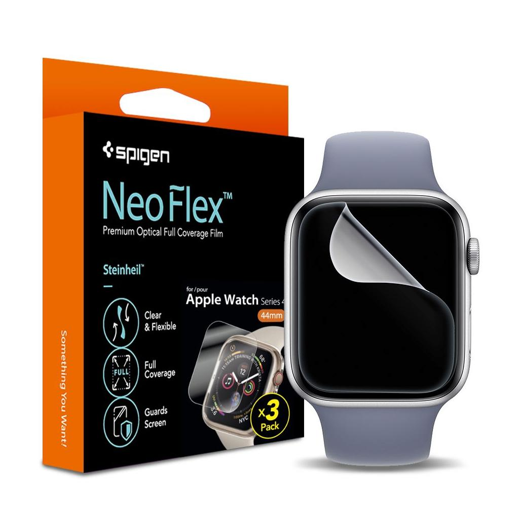 Spigen® (x3Pack) Neo Flex™ HD 062FL25574 Apple Watch Series 4 (44mm) Premium Screen Protector