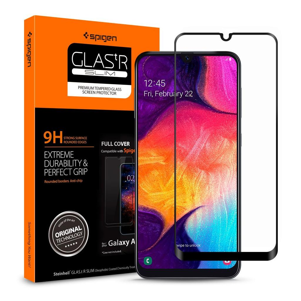 Spigen® GLAS.tR™ Full Cover 611GL26283 Samsung Galaxy A50 Premium Tempered Glass Screen Protector