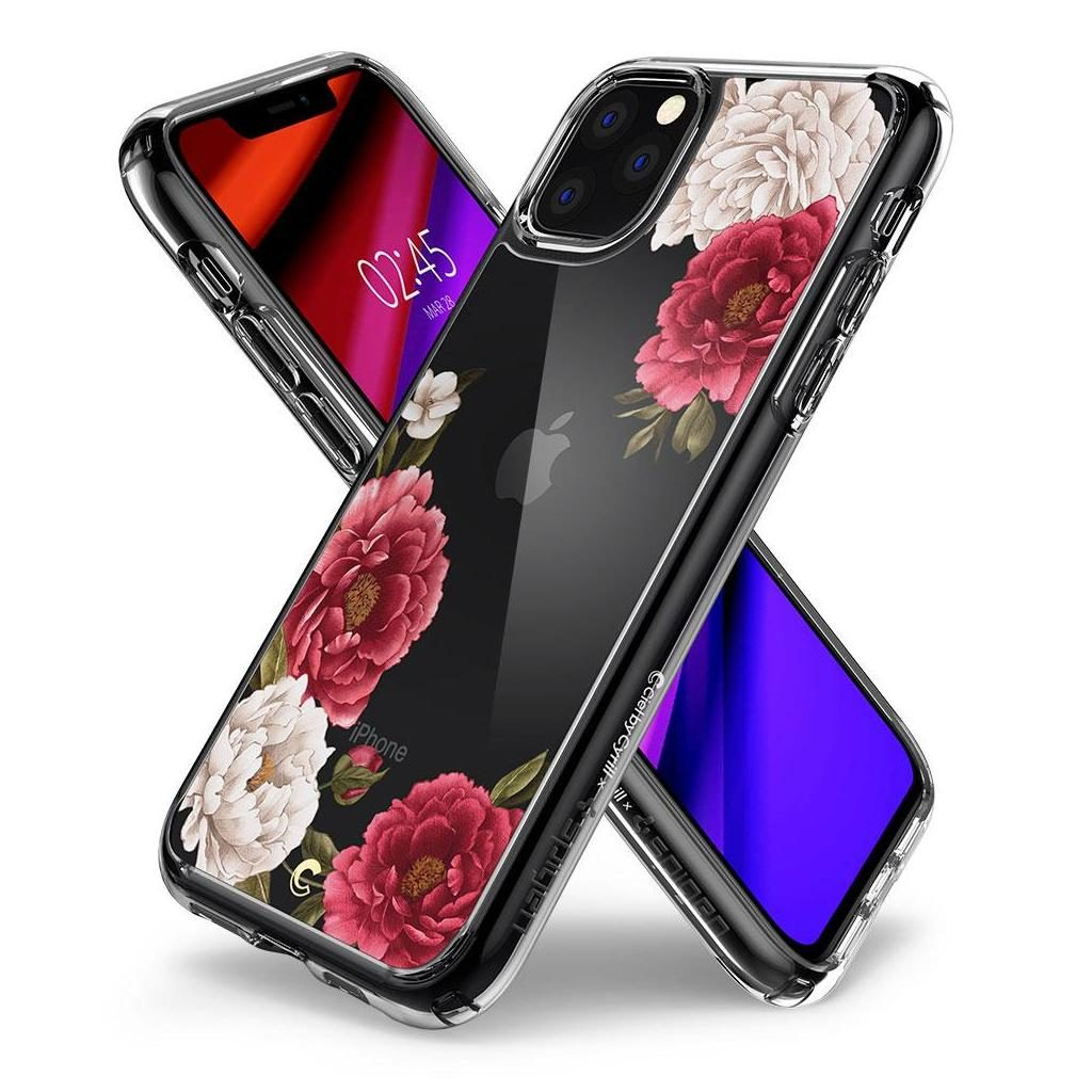 Spigen® Cecile Ciel by Cyrill Collection 075CS27168 iPhone 11 Pro Max Case - Red Floral