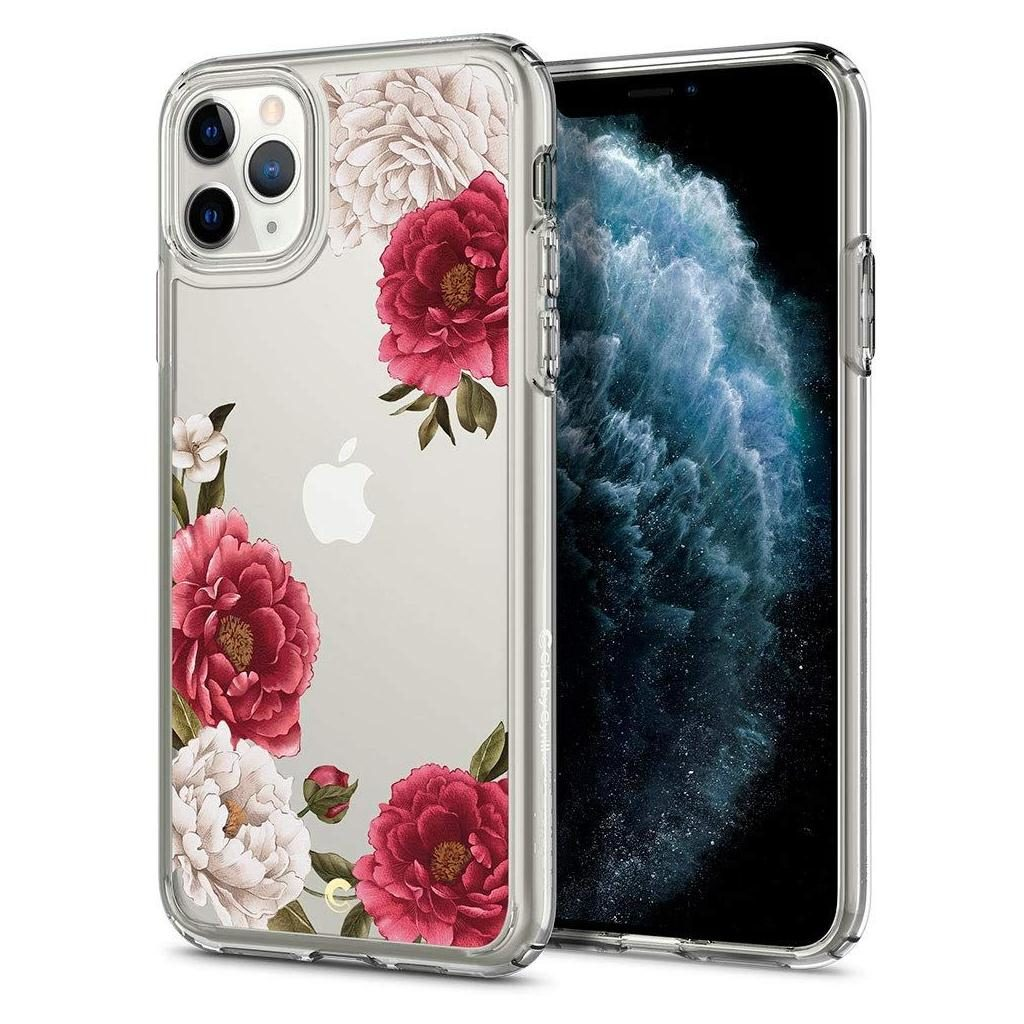 Spigen® Cecile Ciel by Cyrill Collection 077CS27266 iPhone 11 Pro Case - Red Floral