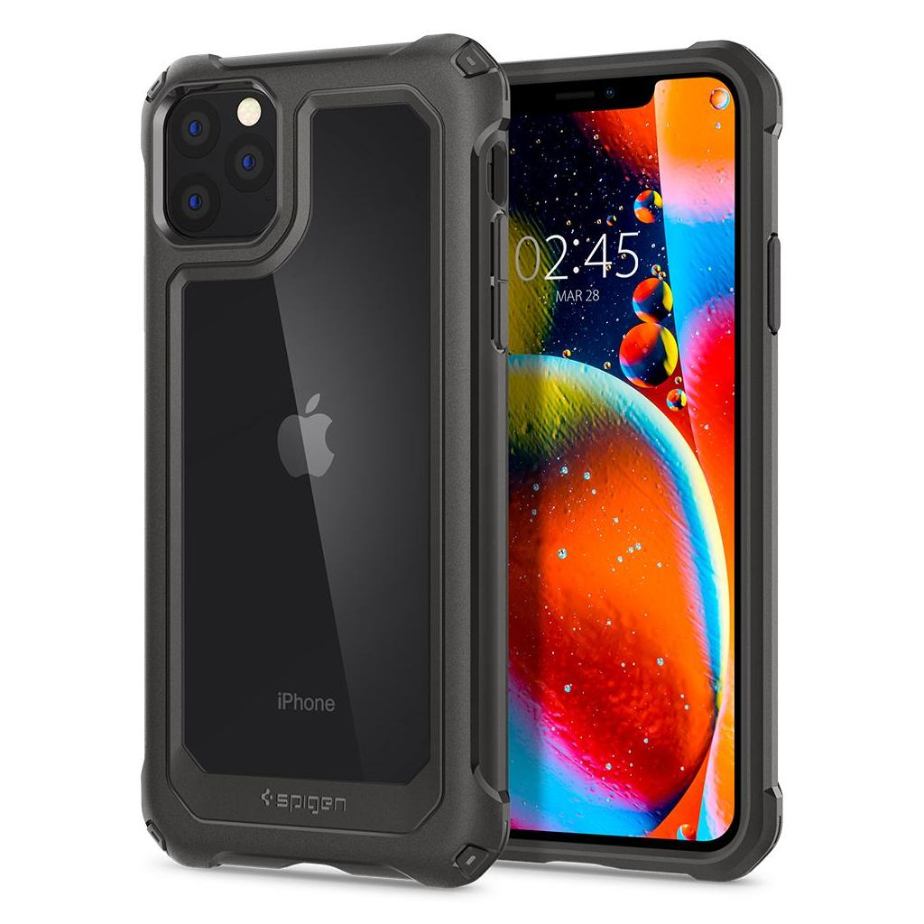 Spigen® Gauntlet 075CS27496 iPhone 11 Pro Max Case - Gunmetal