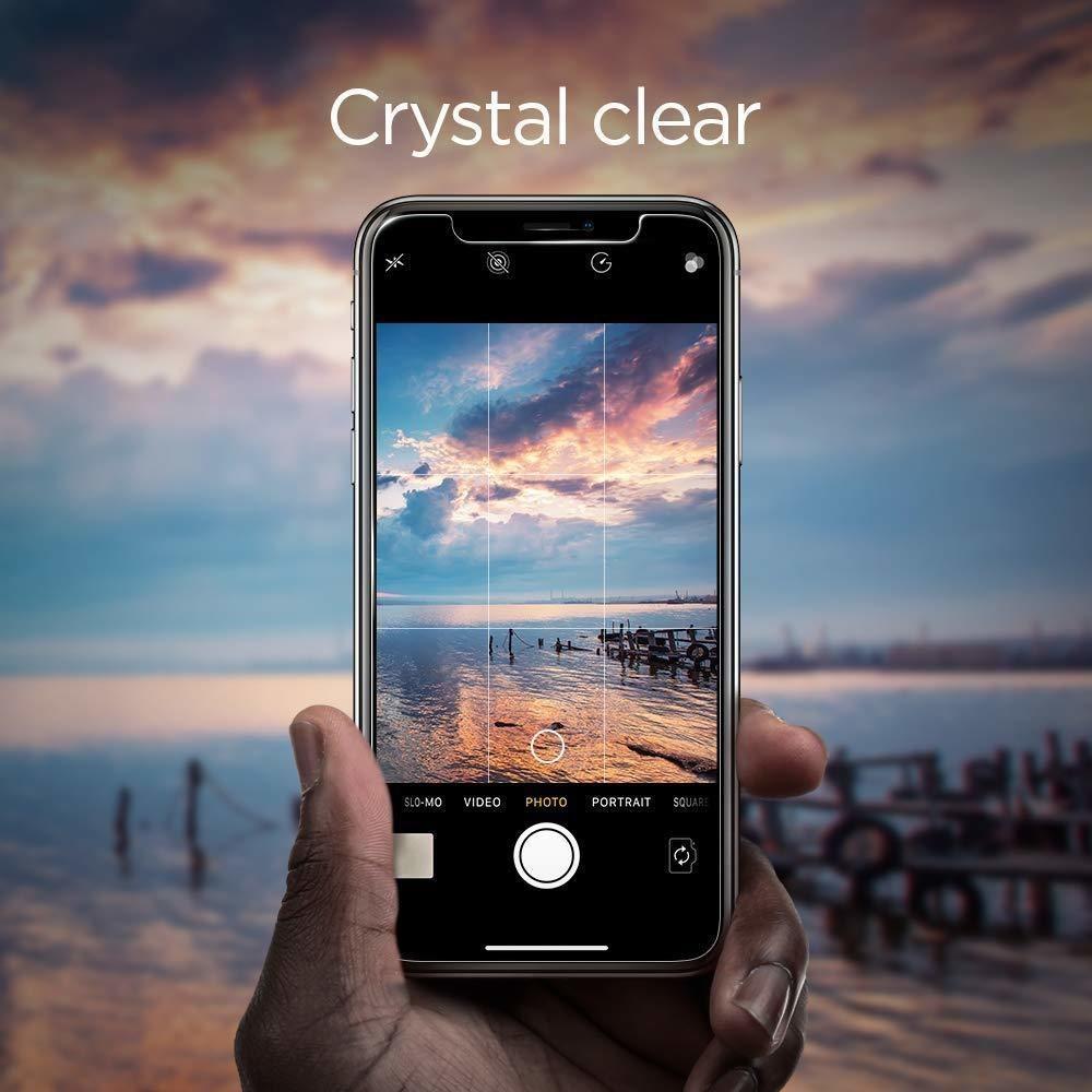 Spigen® GLAS.tR EZ FIT™ HD 064GL24818 iPhone XR Premium Tempered Glass Screen Protector