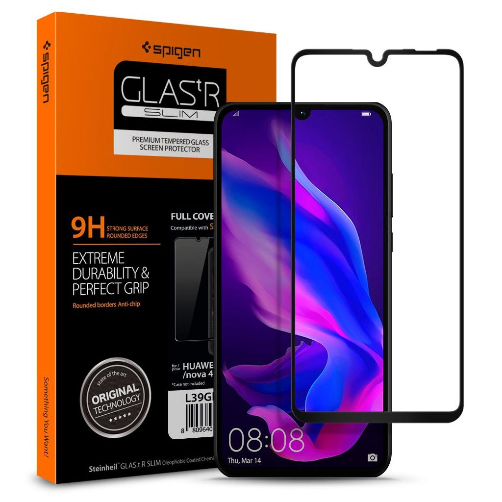 Spigen® GLAS.tR™ Full Cover HD L39GL26019 Huawei P30 Lite Premium Tempered Glass Screen Protector