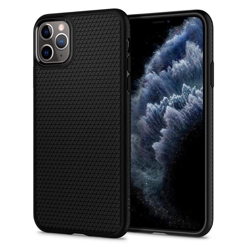Spigen® Liquid Air™ 075CS27134 iPhone 11 Pro Max Case - Matte Black