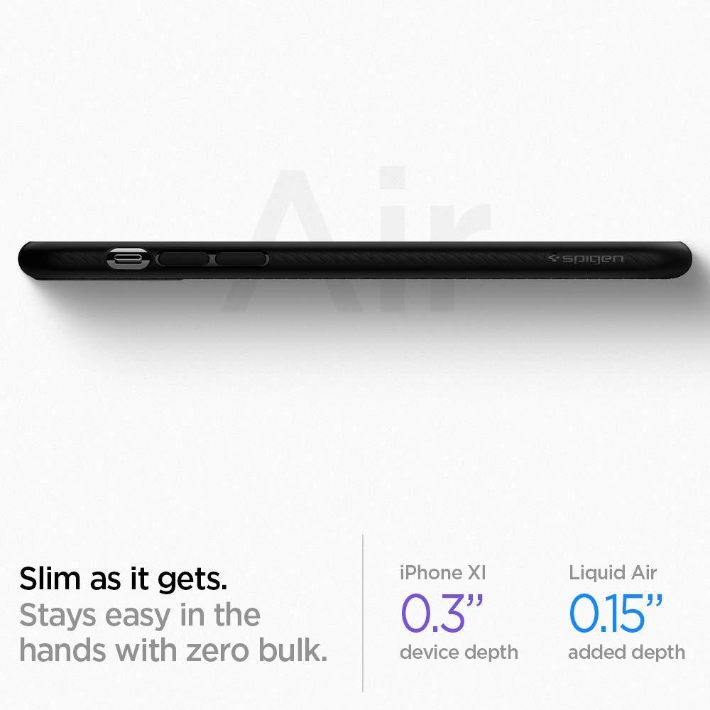 Spigen® Liquid Air™ 076CS27184 iPhone 11 Case - Matte Black