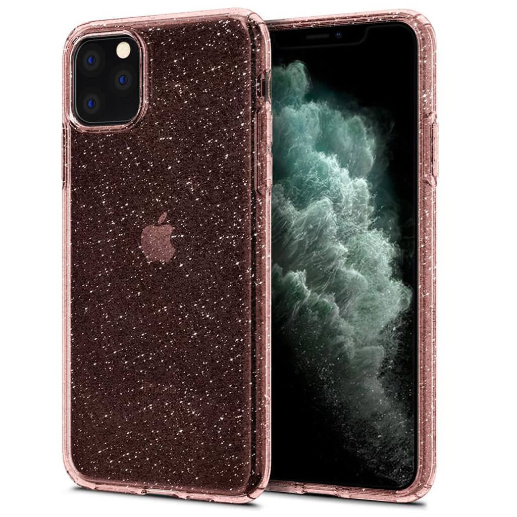 Spigen® Liquid Crystal Glitter™ 075CS27132 iPhone 11 Pro Max Case - Rose Quartz