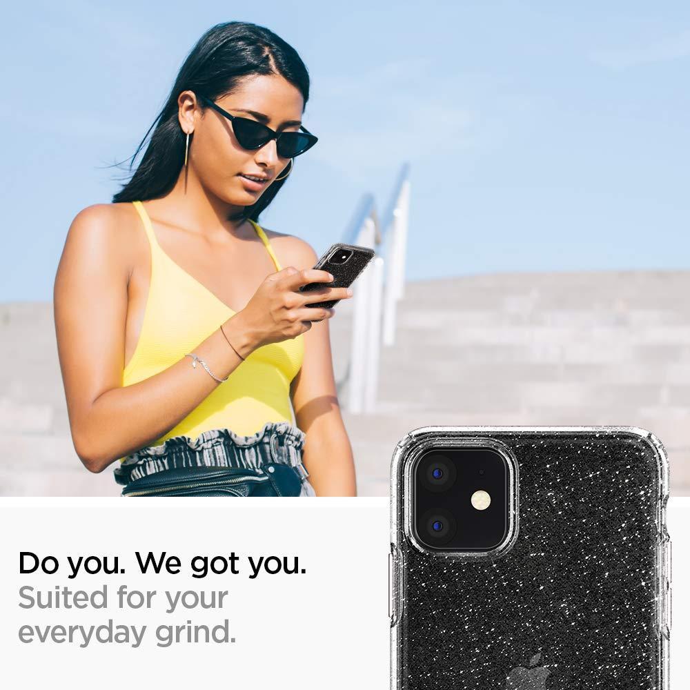 Spigen® Liquid Crystal Glitter™ 076CS27181 iPhone 11 Case - Crystal Quartz