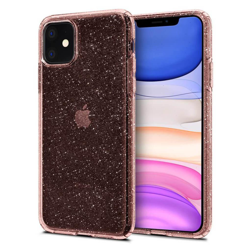 Spigen® Liquid Crystal Glitter™ 076CS27182 iPhone 11 Case - Rose Quartz