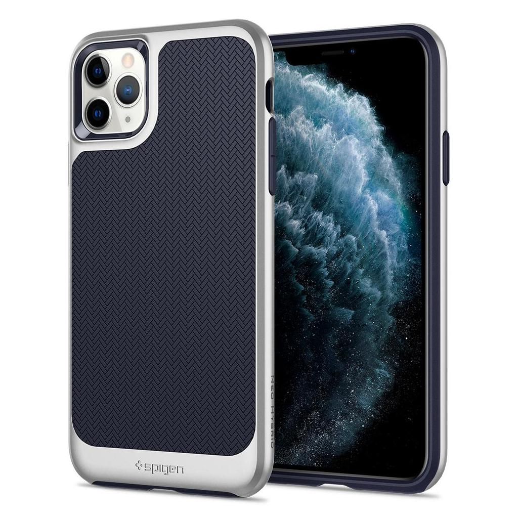 Spigen® Neo Hybrid™ 075CS27147 iPhone 11 Pro Max Case - Satin Silver