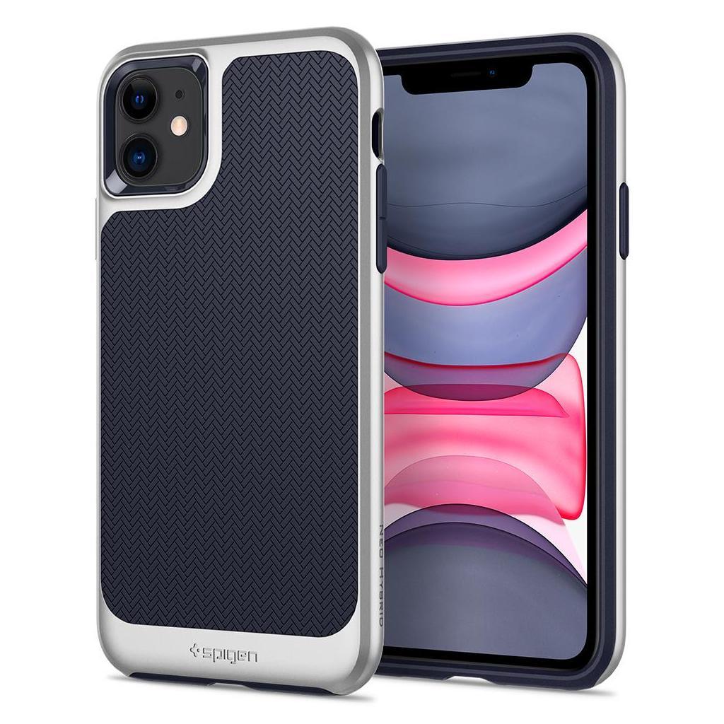 Spigen® Neo Hybrid™ 076CS27195 iPhone 11 Case - Satin Silver