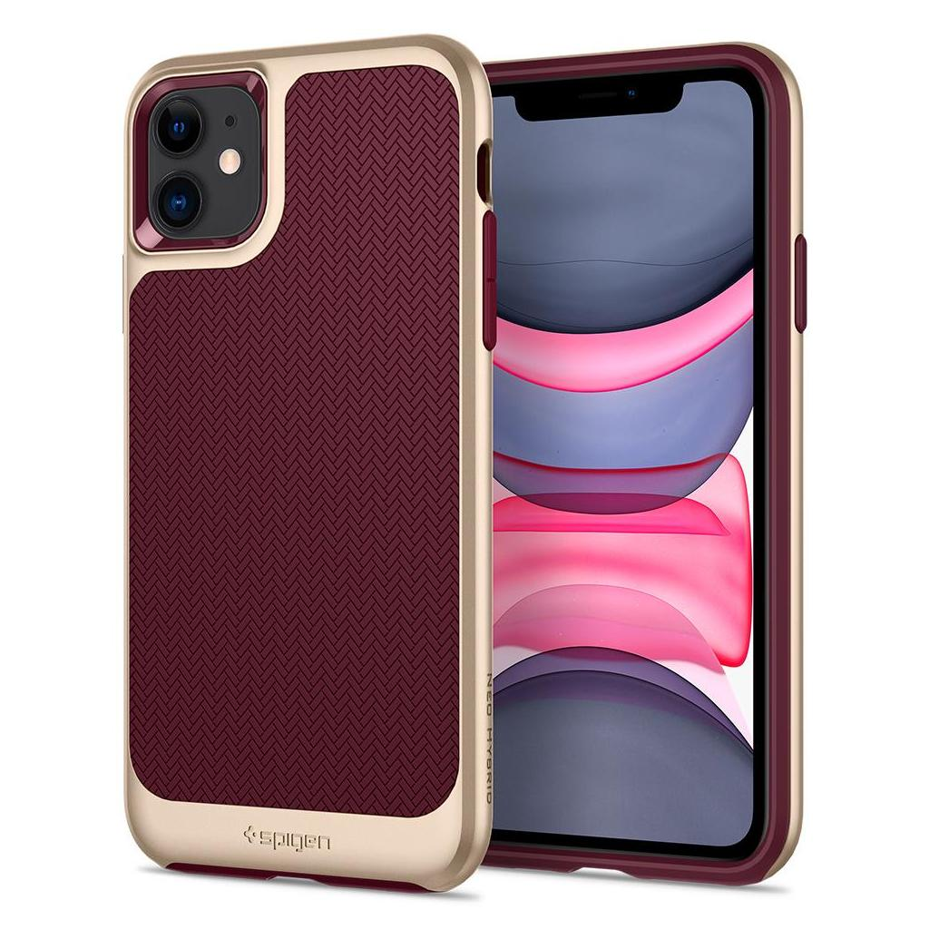 Spigen® Neo Hybrid™ 076CS27196 iPhone 11 Case - Burgundy
