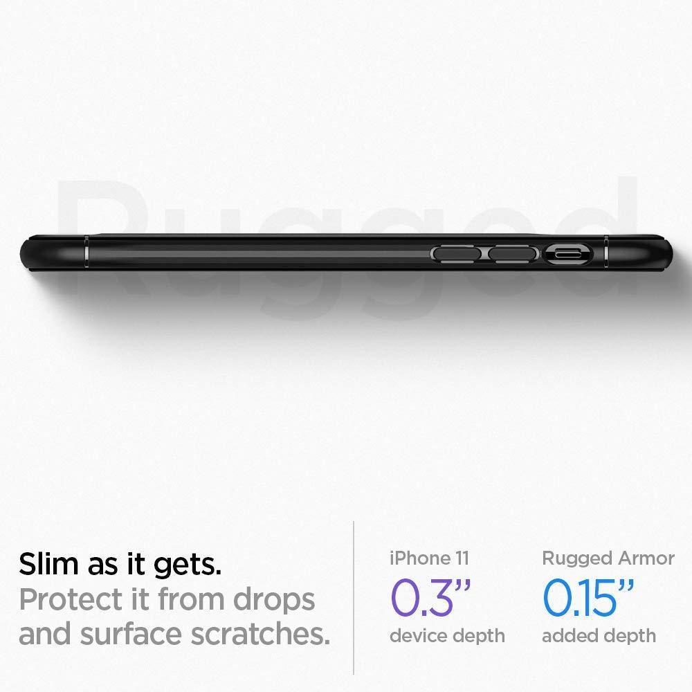 Spigen® Rugged Armor™ 076CS27183 iPhone 11 Case - Matte Black