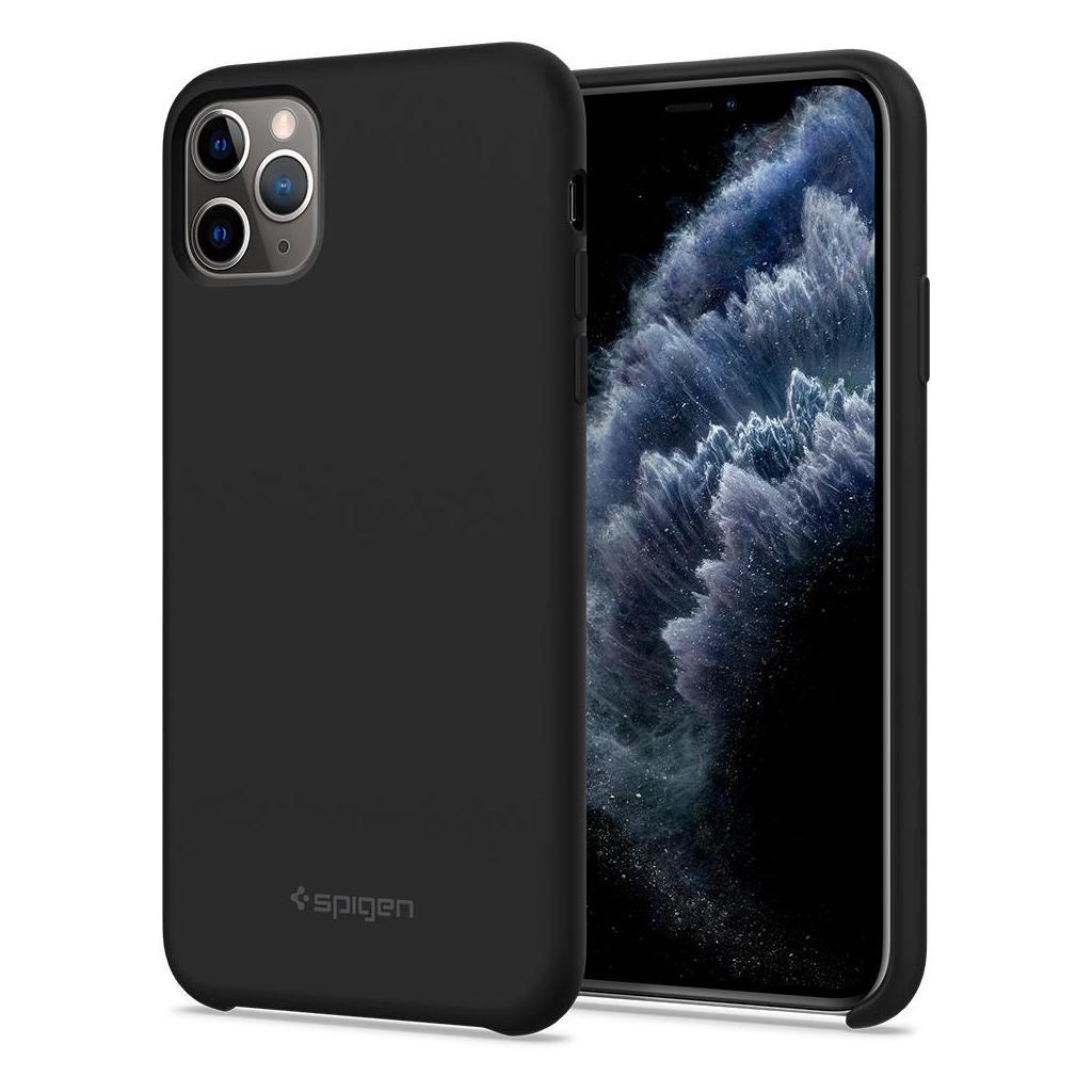 Spigen® Silicone Fit™ 075CS27128 iPhone 11 Pro Max Case - Black