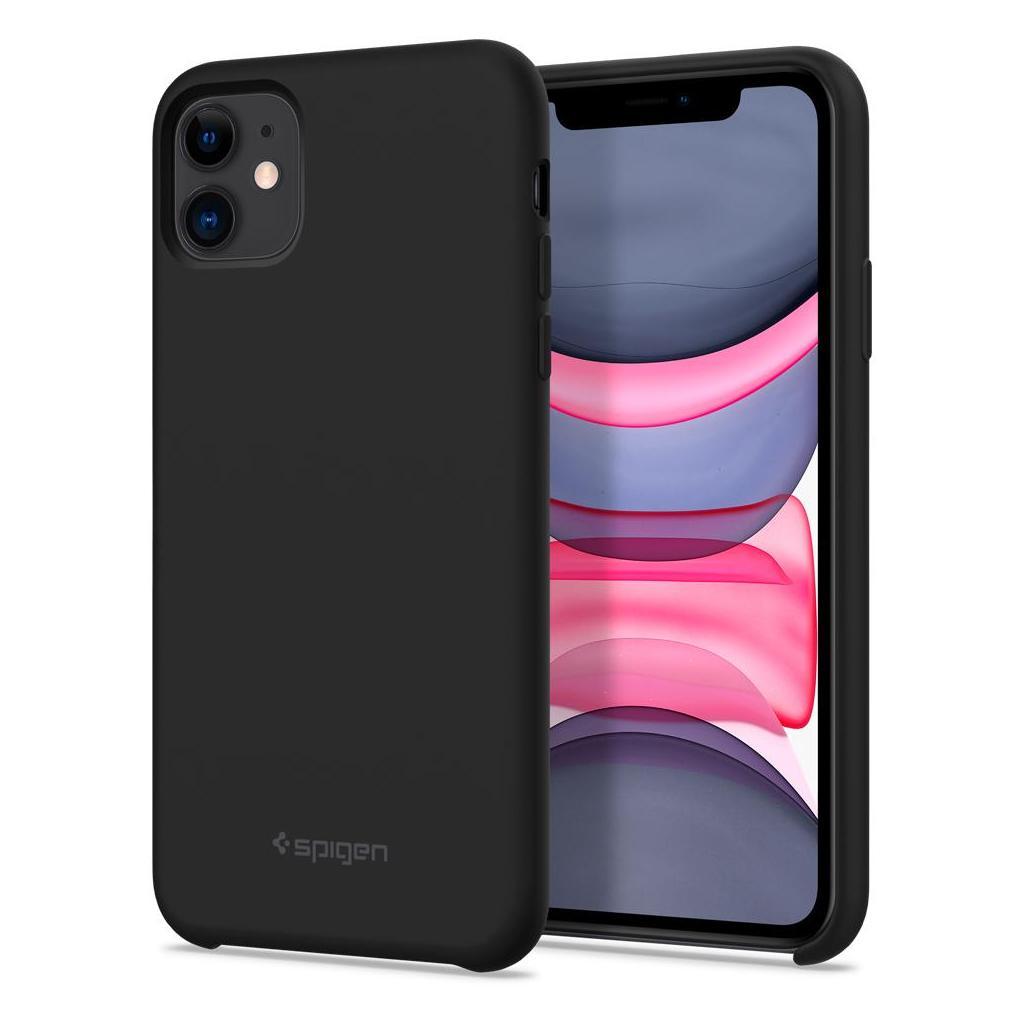 Spigen® Silicone Fit™ 076CS27528 iPhone 11 Case - Black