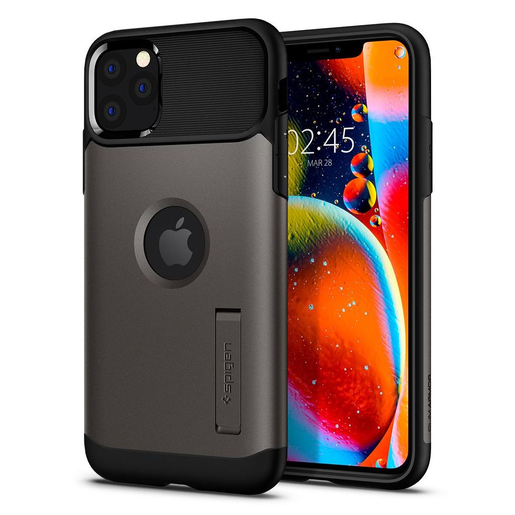 Spigen® Slim Armor™ 075CS27048 iPhone 11 Pro Max Case - Gunmetal