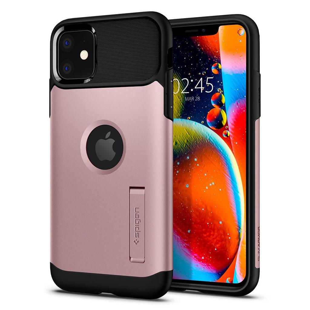 Spigen® Slim Armor™ 076CS27078 iPhone 11 Case - Rose Gold